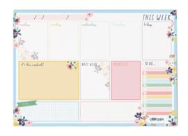 Ditsy Floral Weekly Planner Pad