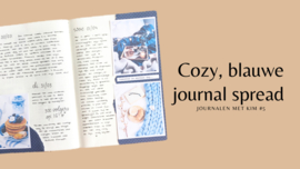 Video: cozy journal spread met blauwtinten
