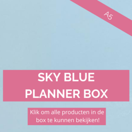 Sky Blue A5 planner box