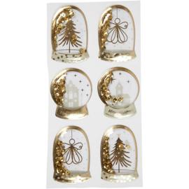 Shaker stickers - kerst goud