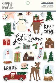 Simple Stories - Winter Cottage stickerboek