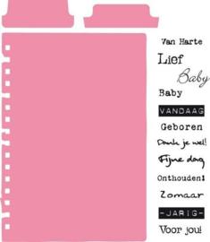 Marianne Design - Tab met tekst (NL)