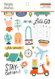 Simple Stories - Save Travels stickerboek