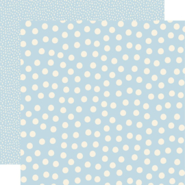 Say Cheese Main Street - Blue Dots 12x12 double sided paper