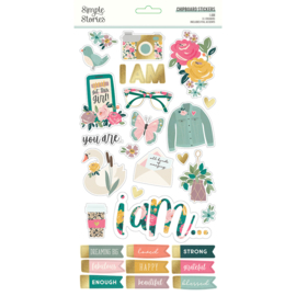 Simple Stories - I Am chipboard stickers