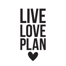 Decal sticker - Live Love Plan
