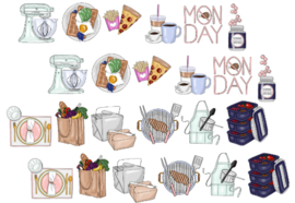 Food stickerset - zonder tekst