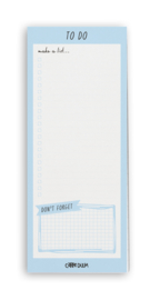 Sky Blue Magnetic To Do List Pad