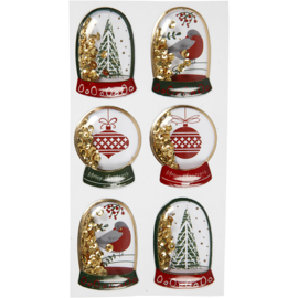 Shake stickers - kerst groen/rood