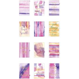 A5 dividers - 12 maanden roze/paars