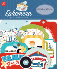 Carta Bella Family Night ephemera
