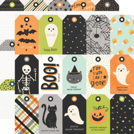 """Simple Stories - Spooky Nights Tags Double Sided 12x12"""""""