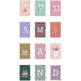 A5 dividers - 12 maanden multicolor