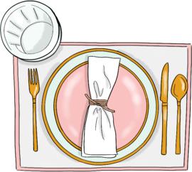 Dinner date stickers met tekst