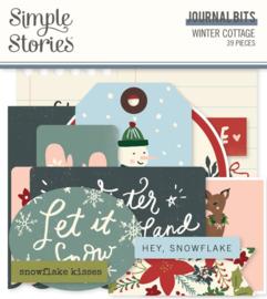 Simple Stories - Winter Cottage Journal Bits & Pieces