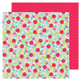 Doodlebug Love Notes Rose Garden Double Sided 12x12