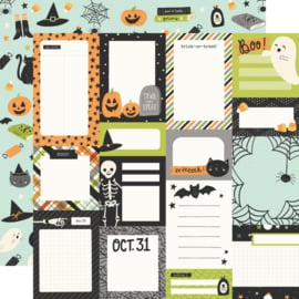 """Simple Stories - Spooky Nights Journal Elements Double Sided 12x12"""""""