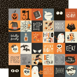Simple Stories - Boo Crew 2x2 Elements Double Sided 12x12""