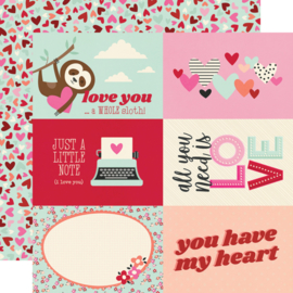 """Simple Stories - Sweet Talk 4x6 Elements double sides 12x12"""""""