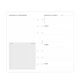 Personal Project Management Inserts