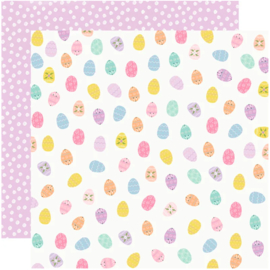Simple Stories - Bunnies & Blooms Egg Hunt Double Sided 12""