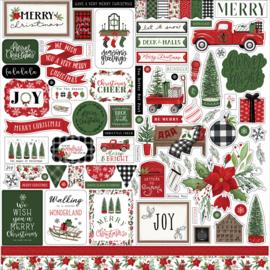 """Echo Park - Home for Christmas 12"""" stickervel"""