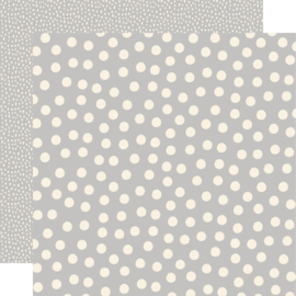 Say Cheese Main Street - Grey Dots 12x12 double sided paper
