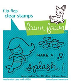 Lawn Fawn - Mermaid for You flip-flop clear stamps