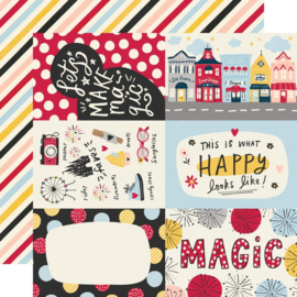 Say Cheese Main Street - 4x6 Elements 12x12 double sided paper