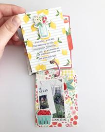 Simpel mini album met Carta Bella's Summer Market collectie
