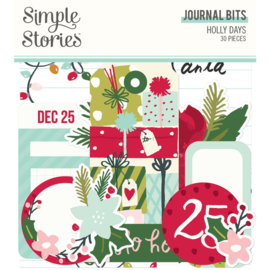 Simple Stories - Holly Days Journal Bits & Pieces