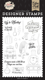 Echo Park Witches and Wizards Wizard At Heart stamp set