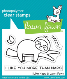 Lawn Fawn - I Like Naps clear stamps