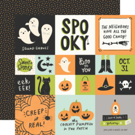 """Simple Stories - Spooky Nights 2x2/4x4 Elements Double Sided 12x12"""""""