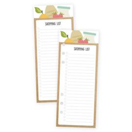 Carpe Diem A5 Shopping List Bookmark Tablet