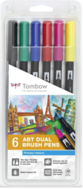 Tombow dual brushpens set - primary colours
