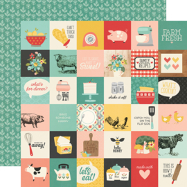 """Simple Stories - Apron Strings 2x2 Elements Double Sided 12x12"""""""