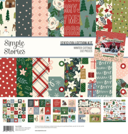 Simple Stories - Winter Cottage collection kit 12x12