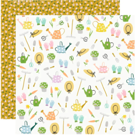 Simple Stories - Bunnies & Blooms Garden Party Double Sided 12""