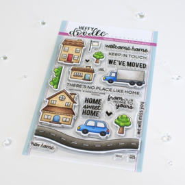 Heffy Doodle - Home Sweet Home clear stamps