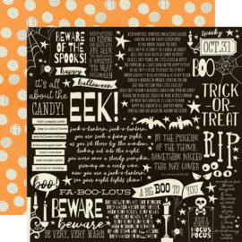 Simple Stories - Boo Crew Cast a Spell Double Sided 12x12""