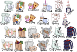 Food stickerset - met tekst