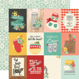 """Simple Stories - Apron Strings 3x4 Elements Double Sided 12x12"""""""