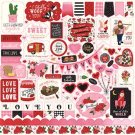 Echo Park Be My Valentine 12x12 Stickers