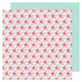 Doodlebug Love Notes Rose Trellis Double Sided 12x12