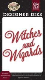 Echo Park Witches and Wizards 2 words die set