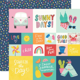 Simple Stories - Sunkissed 2x2/4x4 Elements 12x12 Double Sided