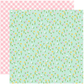 Simple Stories - Bunnies & Blooms Choose Happy Double Sided 12""