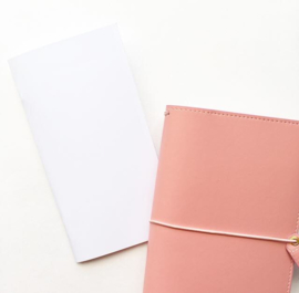 Miss Fancy Plans 'Crisp White' - Travelers Notebook (dotted)