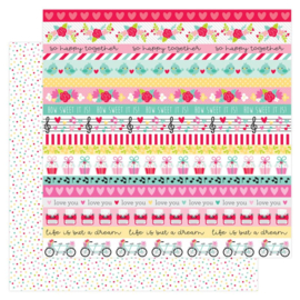 Doodlebug Love Notes Sprinkles Double Sided 12x12